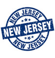 new jersey blue round grunge stamp vector image