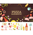 pizza cartoon style concept vector image
