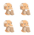 set of old man face icons vector image