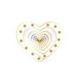 a heart of white design elements for valentine s vector image