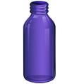 A violet medicine bottle vector image vector image