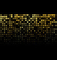 abstract dark background with golden hearts vector image vector image