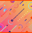 abstract trendy colorful geometric composition vector image vector image