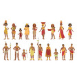 african national tribal outfit collection vector image vector image