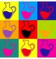 Amphora sign Pop-art style icons set vector image