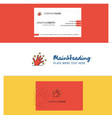 beautiful magical hands logo and business card vector image