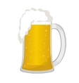 Beer in a glass mug icon flat style Isolated on vector image vector image