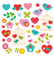 bird valentines day clipart vector image vector image