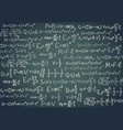 black board with scientific formula algebra vector image