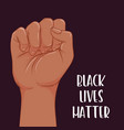 black lives matter realistic style vector image