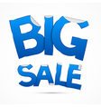 Blue Big Sale Sticker - Label on white background vector image