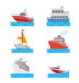boat ship vehicle transportation travel vector image