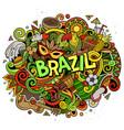 brazil hand drawn cartoon doodles vector image vector image