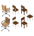 Chair isometric vector image vector image