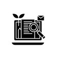 content marketing black icon sign on vector image vector image