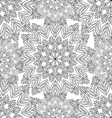 Contour seamless pattern with snowflakes