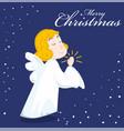 cute cartoon angel vector image vector image