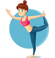 Cute Slim Girl in Yoga Pose Cartoon vector image vector image