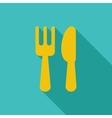 Cutlery single icon vector image vector image