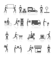 Delivery icons black set vector image