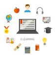 elearning flat composition vector image vector image