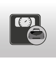 fitness sport bag icon weight scale vector image vector image