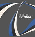 flag of estonia against a dark background vector image vector image