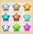 funny stars icons for game ui vector image vector image