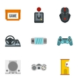 Game icons set flat style vector image vector image