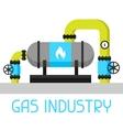 Gas heat exchanger in refinery Industrial vector image vector image