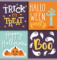 halloween party celebration holiday brochure vector image