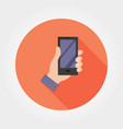 hand with phone icon flat vector image vector image