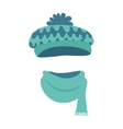Hat Stylish Warm Winter Headwear with Many Waves vector image