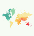 high detail world map with color vector image vector image