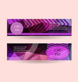 horizontal banner template promotion brochure vector image vector image