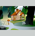 house in the woods vector image vector image