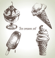Ice cream set hand drawn
