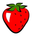 icon of strawberry vector image vector image