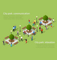 isometric people lifestyle vector image vector image