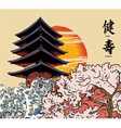 japanese background vector image vector image