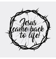 jesus come back to life crown of thorns vector image vector image