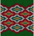 Knit Seamless Jacquard Ornament Pattern vector image vector image
