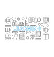learning horizontal line banner or vector image vector image