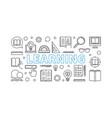 learning horizontal line banner vector image