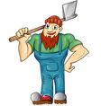 lumberjack cartoon isolated vector image