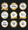 luxury white labels collection 3 vector image vector image