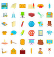 mail communication icons set cartoon style vector image vector image