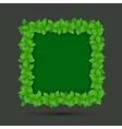 modern frame of leaves vector image