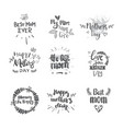 mothers day set of creative hand drawn lettering vector image vector image