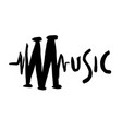 music grunge text hand-drawn sign ink sketchy vector image
